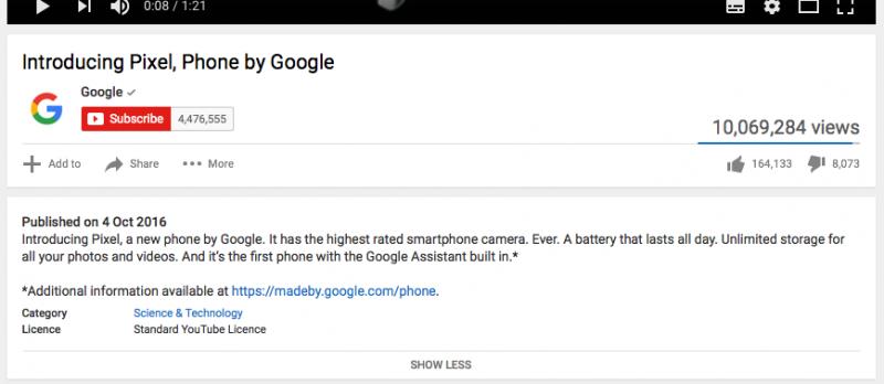 Branded Viral Video - Google Pixel YouTube description 2